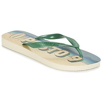 Schoenen Heren Slippers Havaianas POSTO CODE Groen / Blauw