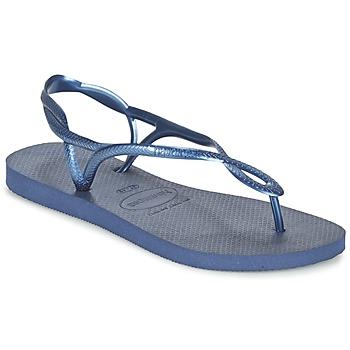 Schoenen Dames Slippers Havaianas LUNA Blauw / Marine
