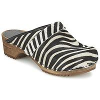 Schoenen Dames Klompen Sanita CAROLINE Zebra