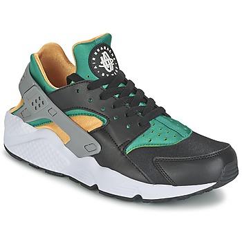 Schoenen Heren Lage sneakers Nike AIR HUARACHE RUN Zwart / Geel / Groen