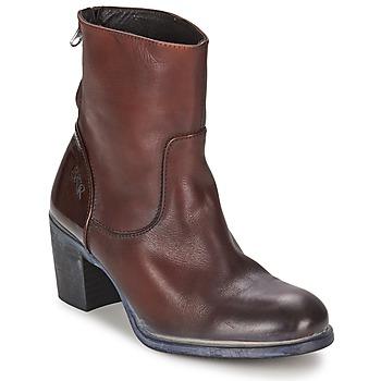 Schoenen Dames Enkellaarzen BKR LOLA Brown