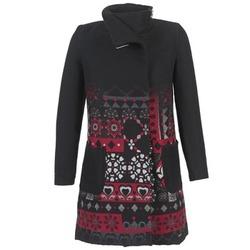 Textiel Dames Mantel jassen Desigual JEFINITE Zwart / Rood