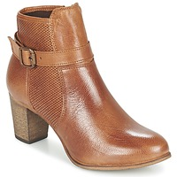 Schoenen Dames Enkellaarzen Betty London FAZELLE  CAMEL