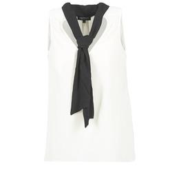 Textiel Dames Tops / Blousjes Morgan OREA Wit / Zwart