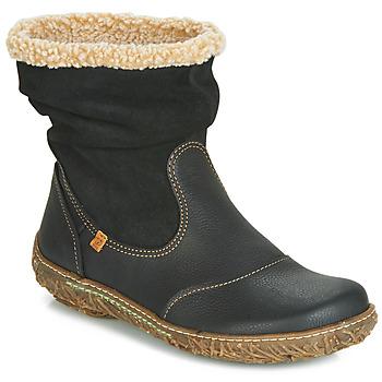 Schoenen Dames Laarzen El Naturalista NIDO Zwart