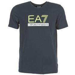 Textiel Heren T-shirts korte mouwen Emporio Armani EA7 JANTLOA Marine
