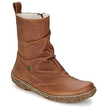 Schoenen Dames Laarzen El Naturalista NIDO Brown
