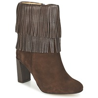 Schoenen Dames Enkellaarzen Betty London FAJIME Brown