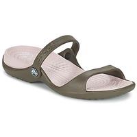 Schoenen Dames Sandalen / Open schoenen Crocs Cleo Chocolade / Katoen / Candy