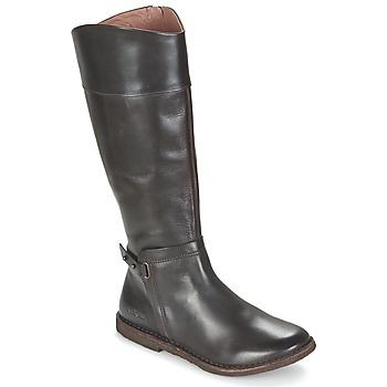 Schoenen Dames Hoge laarzen Kickers CRICK Brown / Donker