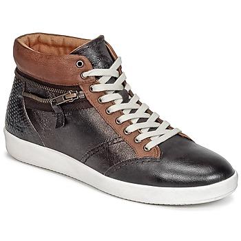 Schoenen Dames Hoge sneakers Kickers HAPPYZIP Brown / Donker / Métal