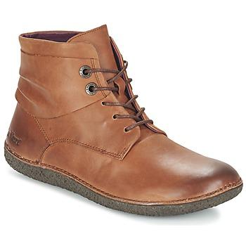 Schoenen Dames Laarzen Kickers HOBYLOW Brown