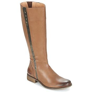 Schoenen Dames Hoge laarzen Kickers LONGBOTTE Brown / Goud