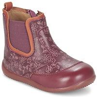 Schoenen Meisjes Laarzen Kickers BIGOR Bordeaux / Orange