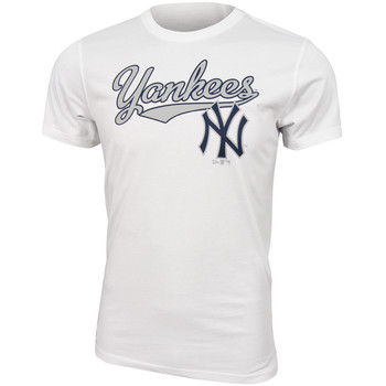 Textiel Heren T-shirts korte mouwen New Era MLB New York Yankees Script tee Wit