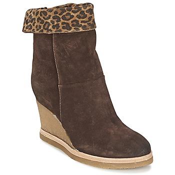 Schoenen Dames Enkellaarzen Vic VANCOVER GUEPARDO Brown / Leopard