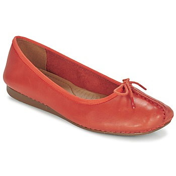 Schoenen Dames Ballerina's Clarks Freckle Orange
