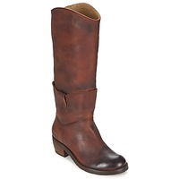 Schoenen Dames Hoge laarzen Dkode INDIANA Brown / Donker