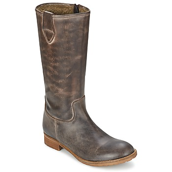 Schoenen Dames Hoge laarzen Hip GUELINE Brown