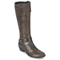 Schoenen Dames Hoge laarzen Dorking NINA Grijs