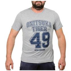 Textiel Heren T-shirts korte mouwen Onitsuka Tiger  Grijs