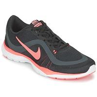Schoenen Dames Fitness Nike FLEX TRAINER 6 W Zwart / Roze