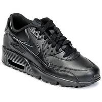 Schoenen Kinderen Lage sneakers Nike AIR MAX 90 LEATHER GRADE SCHOOL Zwart
