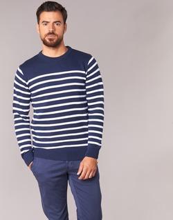 Textiel Heren Truien Casual Attitude FARCIELLE Marine / Wit