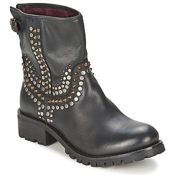 Schoenen Dames Laarzen Ikks SEATTLE-PREMIUM Zwart