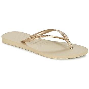 Schoenen Dames Slippers Havaianas SLIM Goud