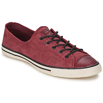 Schoenen Dames Lage sneakers Converse Chuck Taylor All Star FANCY LEATHER OX Bordeaux