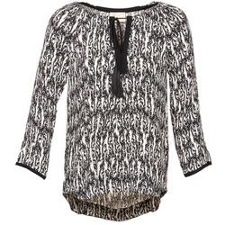Textiel Dames Tops / Blousjes Stella Forest BTU010 Ecru / Zwart
