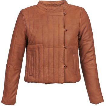 Textiel Dames Leren jas / kunstleren jas Antik Batik YOANN Cognac