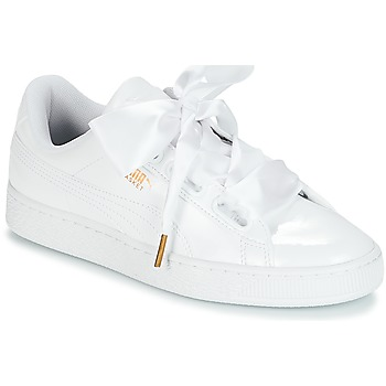 Schoenen Dames Lage sneakers Puma BASKET HEART PATENT WN'S Wit