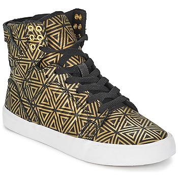 Schoenen Dames Hoge sneakers Supra SKYTOP Goud / Zwart