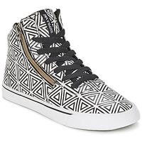 Schoenen Dames Hoge sneakers Supra CUTTLER Wit / Zwart