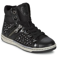 Schoenen Meisjes Hoge sneakers Geox CREAMY C Zwart