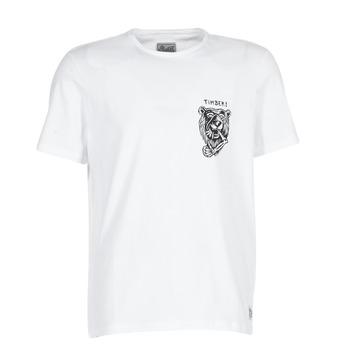 Textiel Heren T-shirts korte mouwen Element ATTACK SS Wit