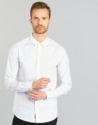 Textiel Heren Overhemden lange mouwen Calvin Klein Jeans WILBERT Wit