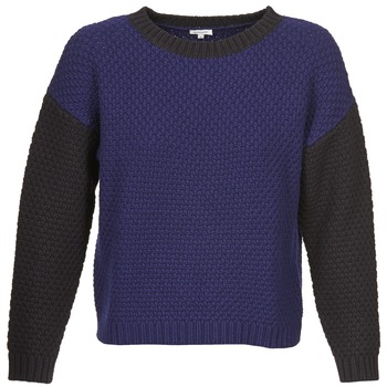 Textiel Dames Truien Manoush POINT DE RIZ Blauw / Zwart