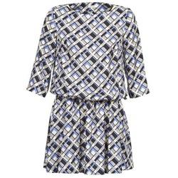 Textiel Dames Korte jurken Manoush MOSAIQUE Grijs / Zwart / Parme