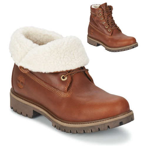Schoenen Heren Laarzen Timberland ROLL TOP L/F AF Brown