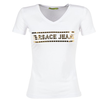 Textiel Dames T-shirts korte mouwen Versace Jeans B2HPA7GC Wit