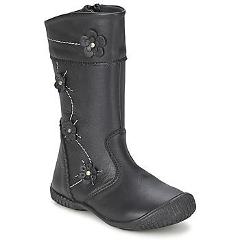 Schoenen Meisjes Hoge laarzen Citrouille et Compagnie AMATIS Zwart