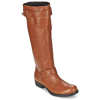 Schoenen Dames Hoge laarzen One Step IANNI Caramel