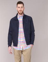 Textiel Heren Leren jas / kunstleren jas Serge Blanco FIDENZA Marine