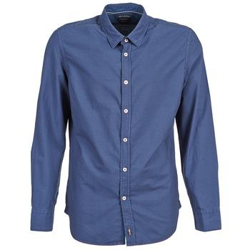 Textiel Heren Overhemden lange mouwen Marc O'Polo CELSUS Blauw / Marine / Rood
