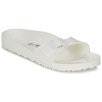 Schoenen Dames Leren slippers Birkenstock MADRID EVA Wit