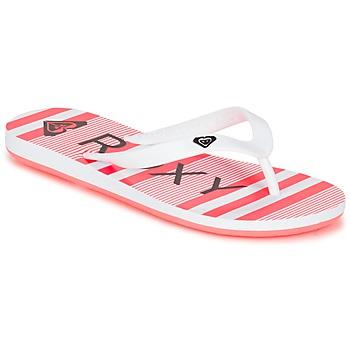 Schoenen Meisjes Slippers Roxy RG TAHITI V G SNDL WBD Wit / Zwart / Roze