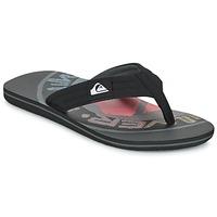 Schoenen Heren Slippers Quiksilver MOLOKAI LAYBACK Zwart / Rood